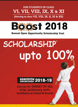 BOOST - BANSAL OPEN OPPORTUNITY & SCHOLARSHIP TEST